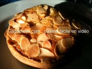 Recette vidéo des tartelettes frangipane amandes