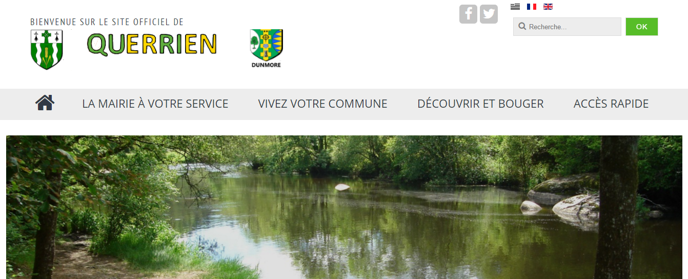 Un nouveau site web pour la commune de Querrien 29310